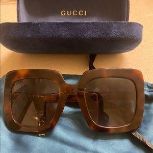 Gucci Womens Havana Sunglasses